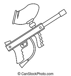 how to draw paintball guns