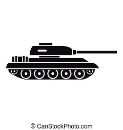 Tank icon, simple style - Tank icon in simple style isolated...