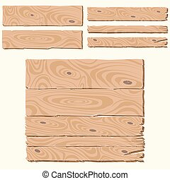 set of wooden planks - Set of wooden planks cartoon style,...