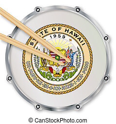 Hawaii Snare Drum - Hawaii state seal snare drum batter head...