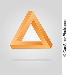 optical illusion triangle