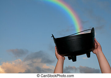Rainbow - Collecting the treasure at the end of a rainbow