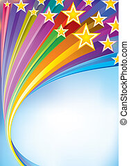 Celebratory - Stripes star flowing Celebratory background...