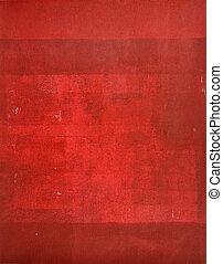 藝術, 摘要, 畫, 紅色