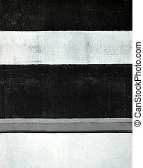 畫, 黑色, 摘要, 藝術, 白色