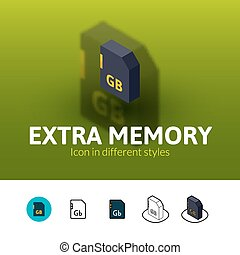 Extra memory icon in different style - Extra memory color...