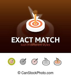 Exact match icon in different style - Exact match color...