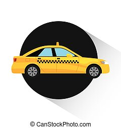 taxi service public transport vector illustration design