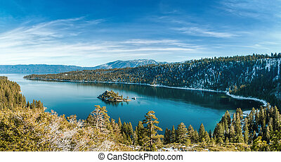 Emerald Bay in Winter - Emerald Bay is a state park on Lake...