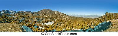 Mt Rose Panorama - Panorama of Mt Rose in winter Mt Rose is...