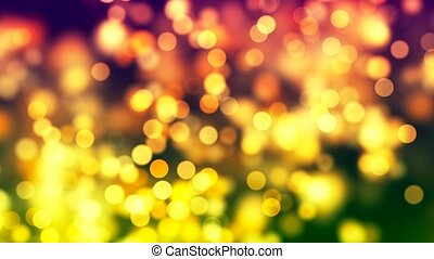 HD Loopable Background with nice orange bokeh - HD Loopable...