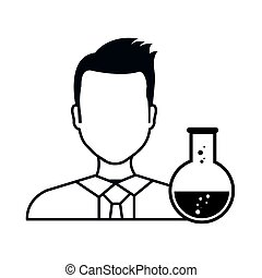 avatar man design - avatar man laboratory doctor with flask...