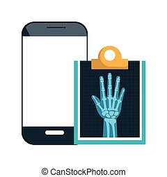 smartphone and X-rays - smartphone device and X ray digital...