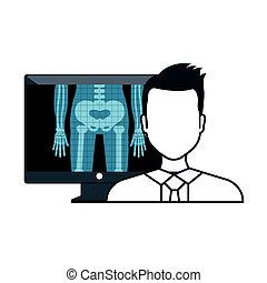 X ray and doctor man - X ray digital medical healthcare...