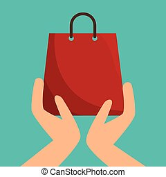hands holding a shopping bag