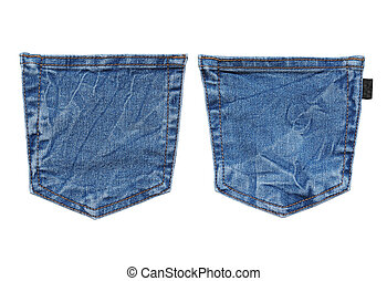 jeans pocket isolated