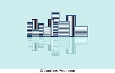 Building vector flat with reflection