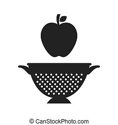 fruit and kitchen colander - apple fresh fruit and kitchen...