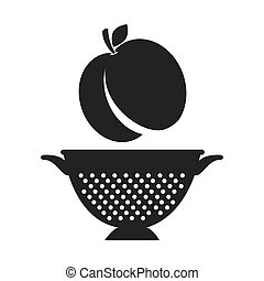 fruit and kitchen colander - peach fresh fruit and kitchen...