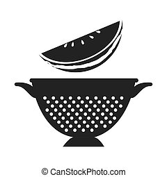 fruit and kitchen colander - watermelon fresh fruit and...