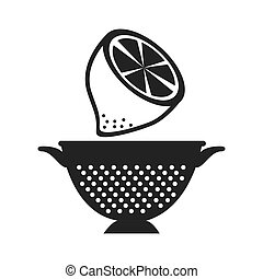 fruit and kitchen colander - lemon fresh fruit and kitchen...