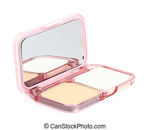 Face powder with mirror