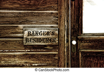 Rangers residence is preserved in Bodie California