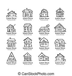 Art houses collection, sketch for your design