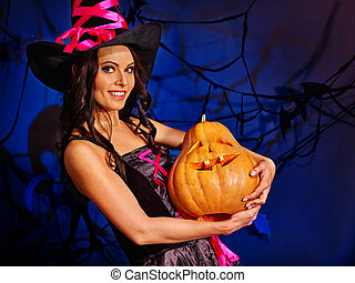 Season of Pumpkin is here. Witch learns make Jack OLanten. -...