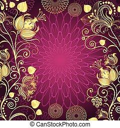 Purple vintage frame