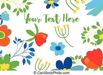 Colored Flowers Vector Background