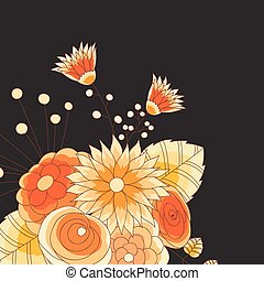 Vibrant Flowers Vector Background