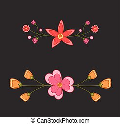 Colored Floral Dividers