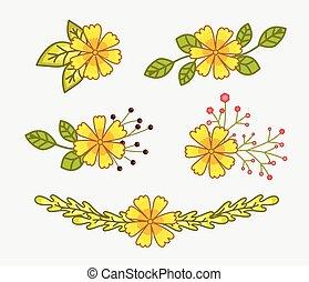 Yellow Fresh Flowers