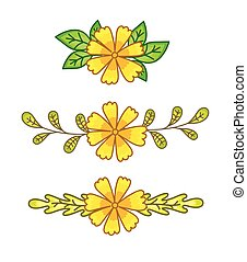 Yellow Flowers Dividers