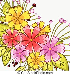 Bright Flowers Background