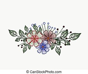 Elegant Flowers Element Design