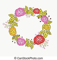 Valentine Roses Wreath