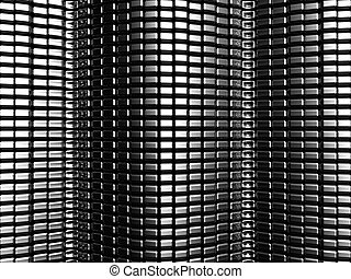 Aluminium square texture pattern background 3d illustration