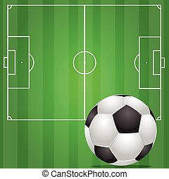 football in green field