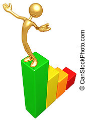 Gold Guy Bar Graph Success - A Concept And Presentation...