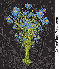 Bunch of Blue Flowers