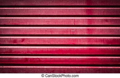 Red roller shutter door - Background of red grunge metallic...