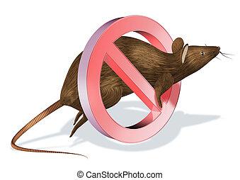 rats stop - Classic illustration, rats stop