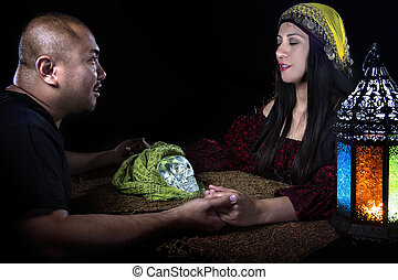 Seance with Psychic and Client - Psychic or fortune teller...