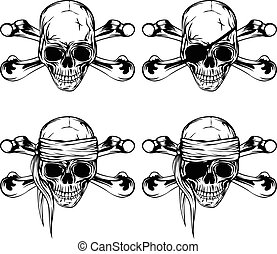 Pirate skull - Vector illustration pirate skull and crossed...