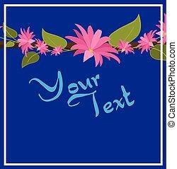 Floral Branch Invitation Card Vector Illustration