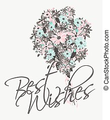 Best Wishes Template Design Vector Illustration