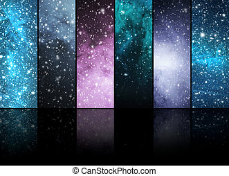 Universe, stars, constellations and planets. Space...