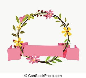 Foliage Wreath with Ribbon Banner